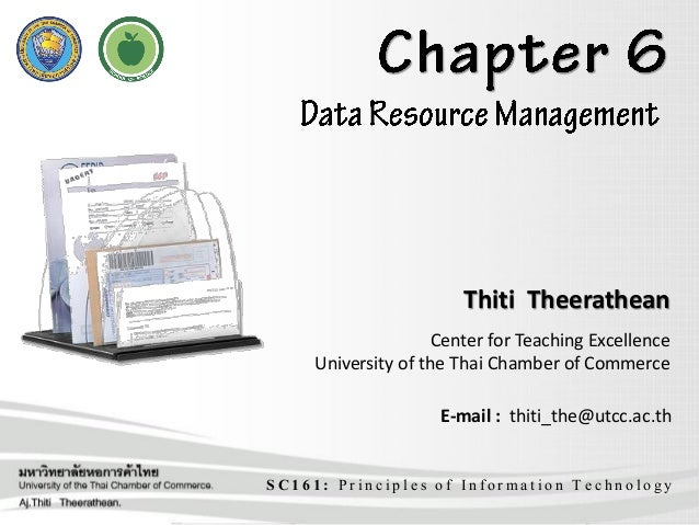 SC161: Principles of Information Technology Thiti Theerathean Center for Teaching Excellence University of the Thai Chambe...