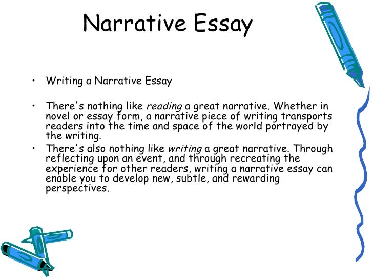 Overview of a narrative essay for middle school