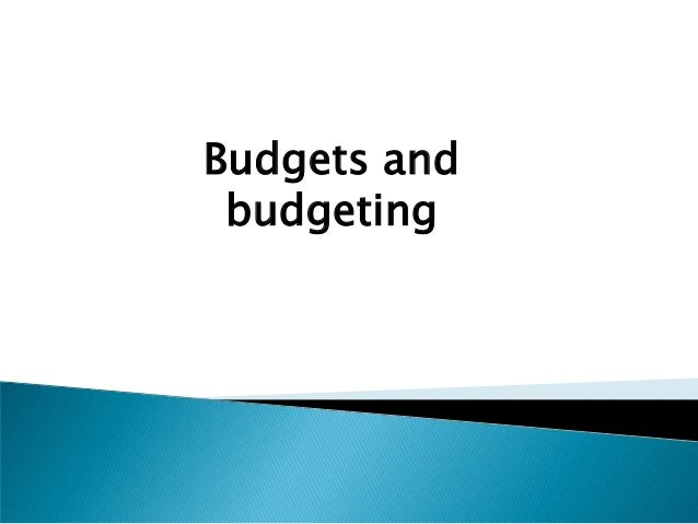 Lecture 7  budgeting