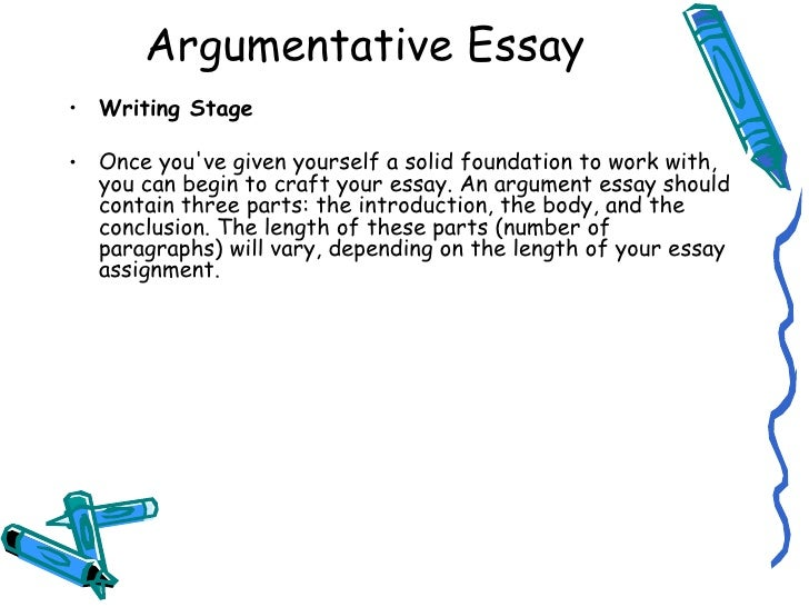 What are the main parts of a body paragraph in an argumnetive essay