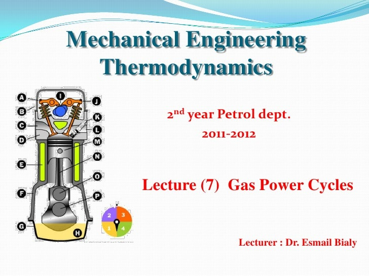 Mechanical Engineering  Thermodynamics         2nd year Petrol dept.               2011-2012      Lecture (7) Gas Power Cy...