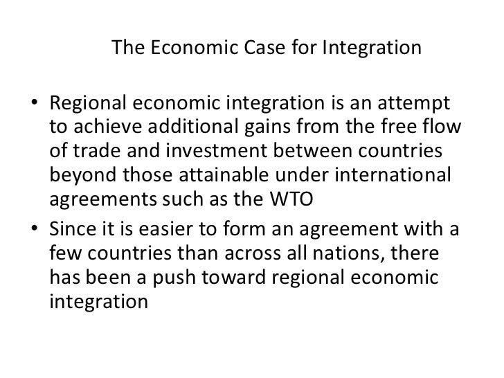 what is regional economic integration essay