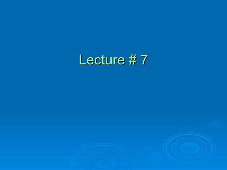 Lecture 7 Templates, Friend Classes
