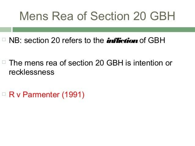 Mens rea recklessness essays