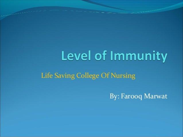 Life Saving College Of Nursing By: Farooq Marwat