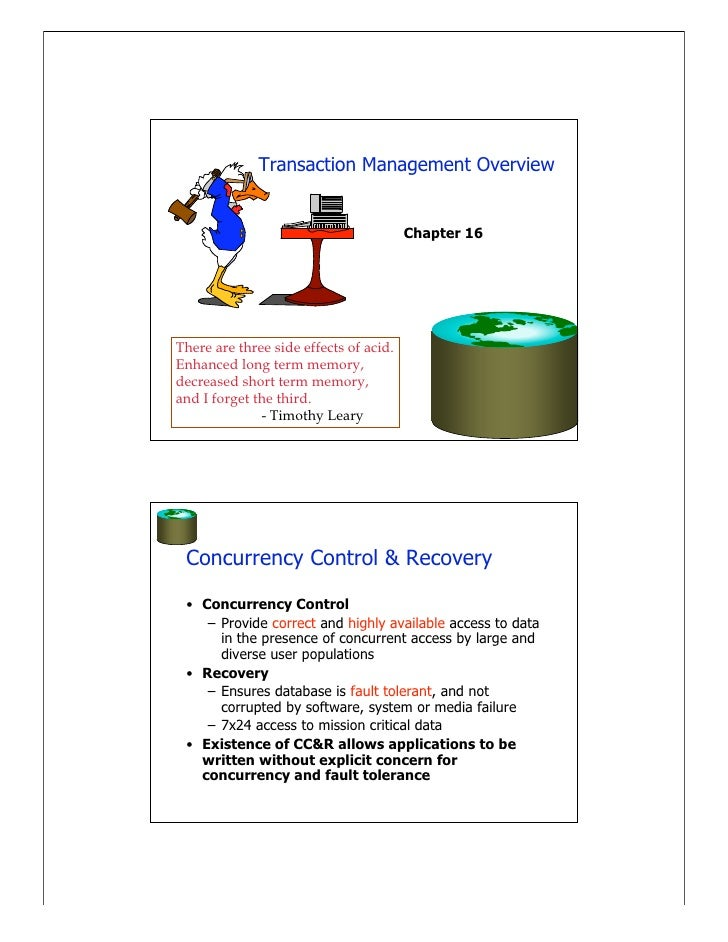 Transaction & Concurrency Control