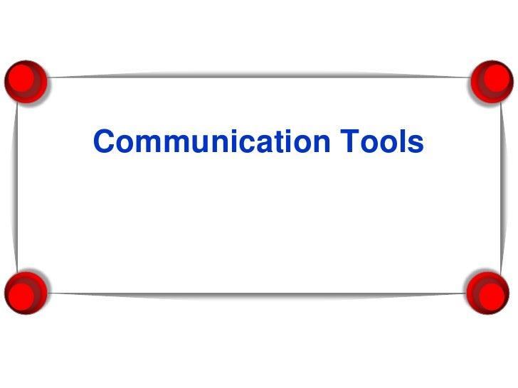 Lecture 9  - Communication