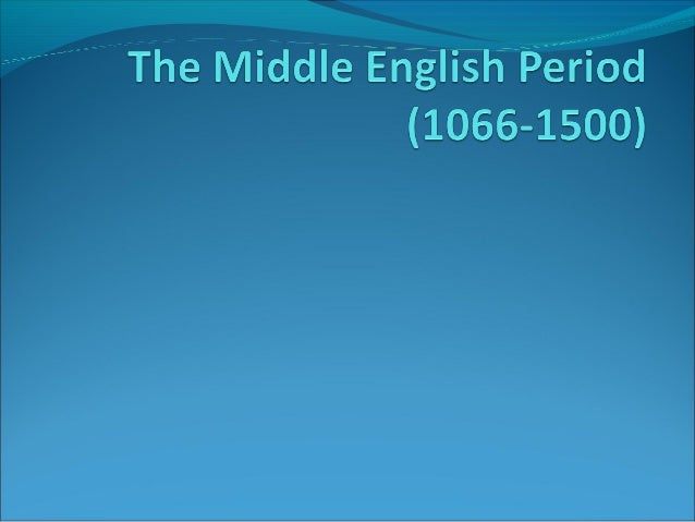 middle english period_(1066-1500)