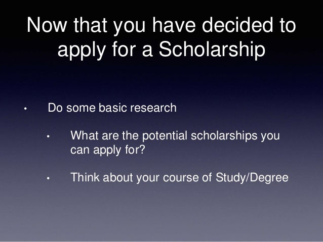 How do you organize a personal statement for a scholarship?