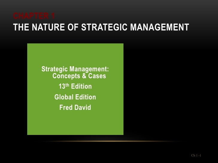 Strategic Management - Lecture 1