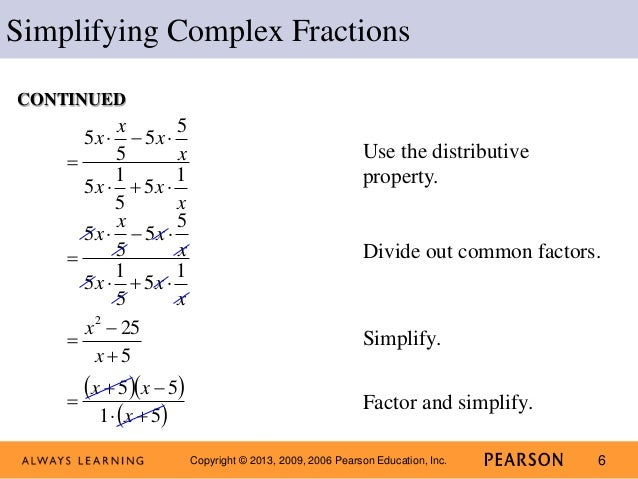 Lecture Complex Fractions