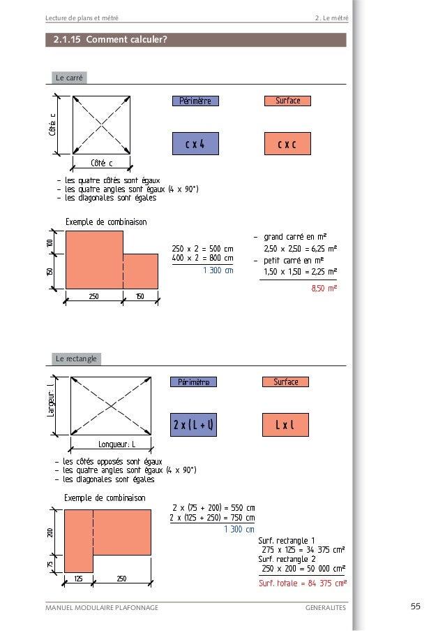 Lecture de plans et m tr - Comment calculer metre carre ...