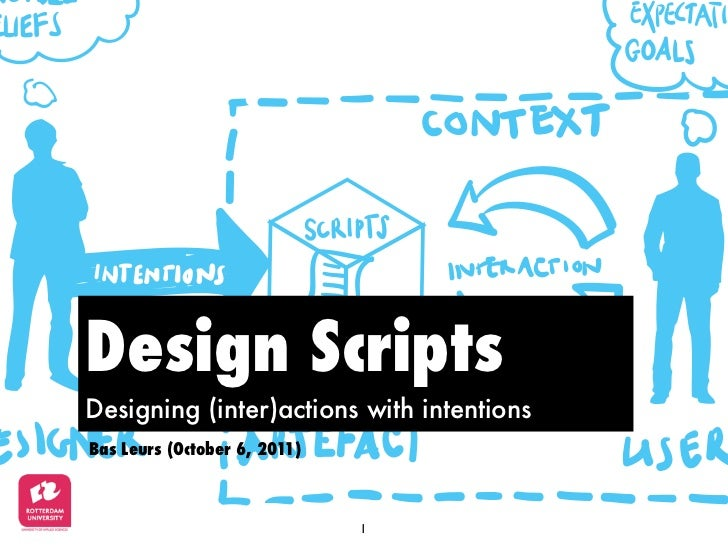 Design Scripts: Designing (inter)actions with intentions (version 2.0)
