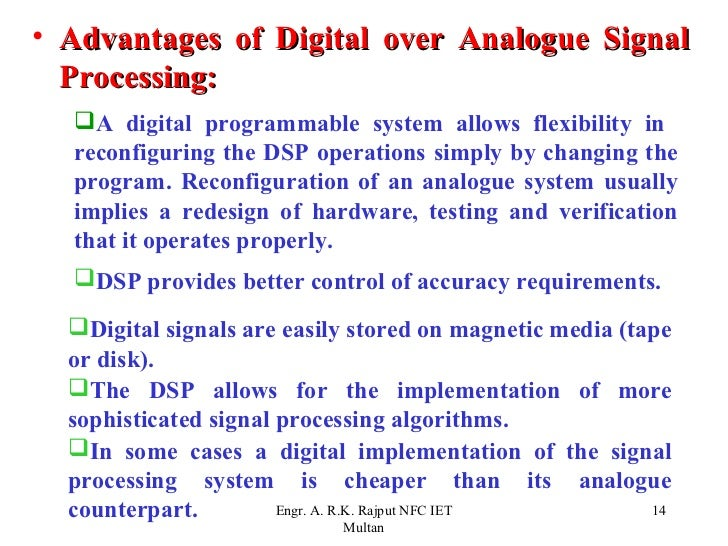 advantages of digital communication and signal Introduction to digital communication as to the basics of digital communication, its advantages water level by means of a digital signal instead of.
