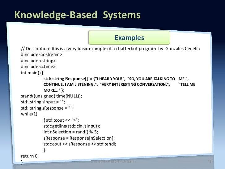 Knowledge Based Systems Artificial Intelligence By Priti