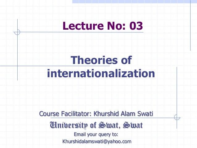 International Business Management - Lecture No 03