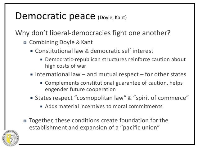 liberal democratic peace thesis Democratic peace theory essay 1rst yr undergrad democratic peace theory essay 1rst takes shape in the following characteristics of democratic, liberal.