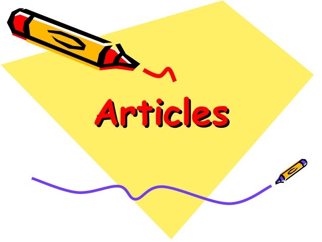 Lecture on articles