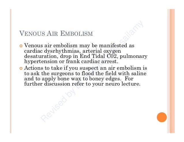 Trendelenburg Position For Air Embolism