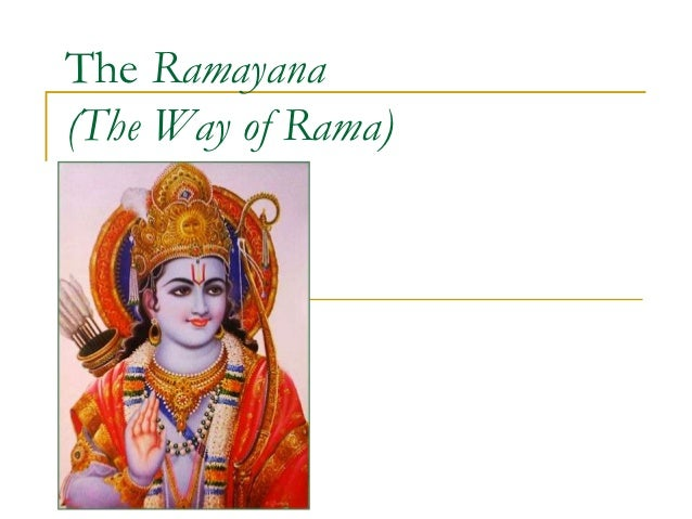 Lecture on ramayana (afro asian lit)