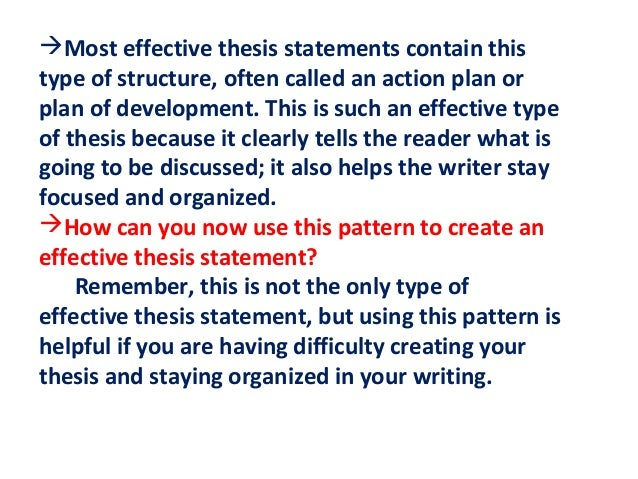 exercises on writing a good thesis statement