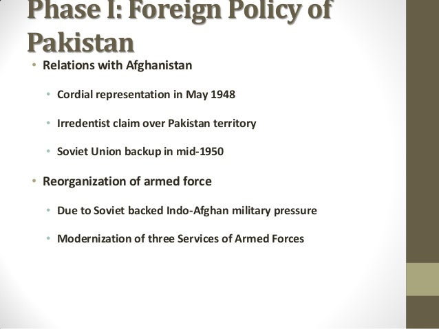Pakistan foreign policy towards afghanistan thesis