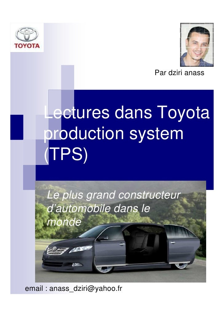 Lectures dans toyota production system