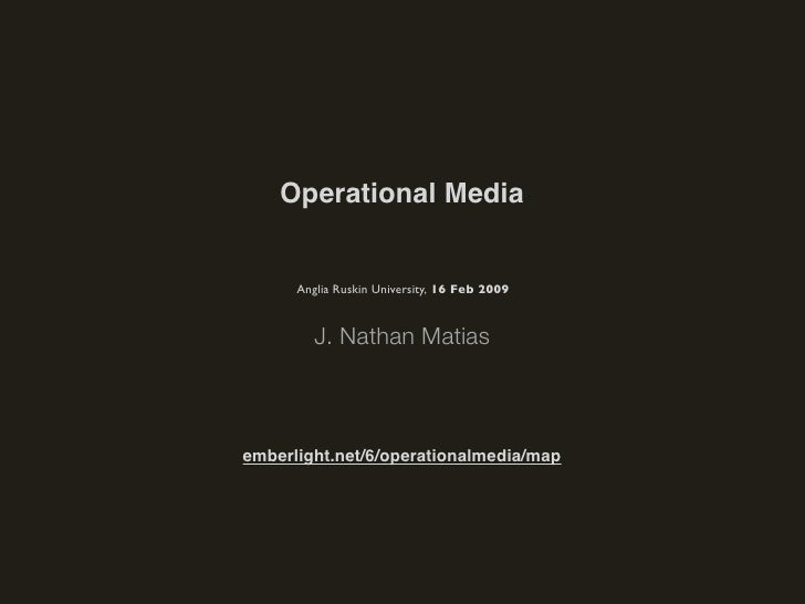 Operational Media: Functional Design Trends Online