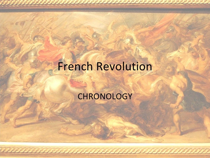 French Revolution: A chronology
