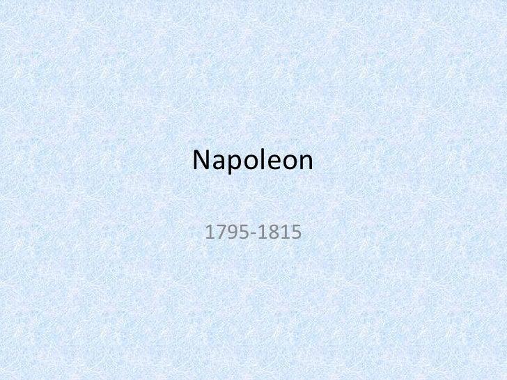 Napoleon, in brief