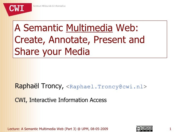A Semantic Multimedia Web (Part 3)