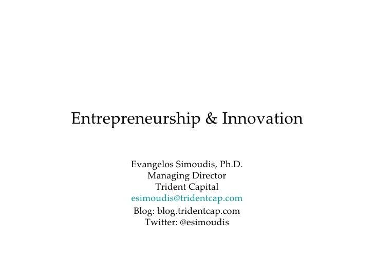 Entrepreneurship & Innovation