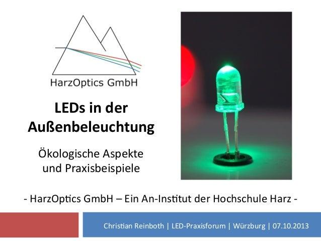 -‐  HarzOp)cs  GmbH  –  Ein  An-‐Ins)tut  der  Hochschule  Harz  -‐     Chris)an  Reinboth  |...