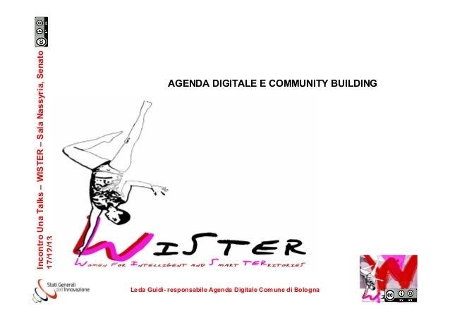 Agenda digitale, Leda Guidi