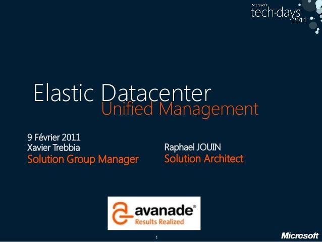 Le datacenter élastique d'avanade, gestion unifiée du cloud privé et refacturation