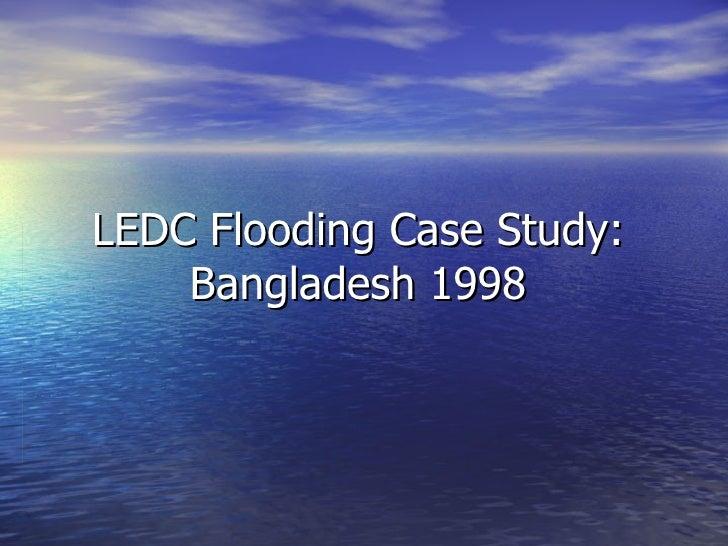 LEDC Flooding Case Study: Bangladesh 1998