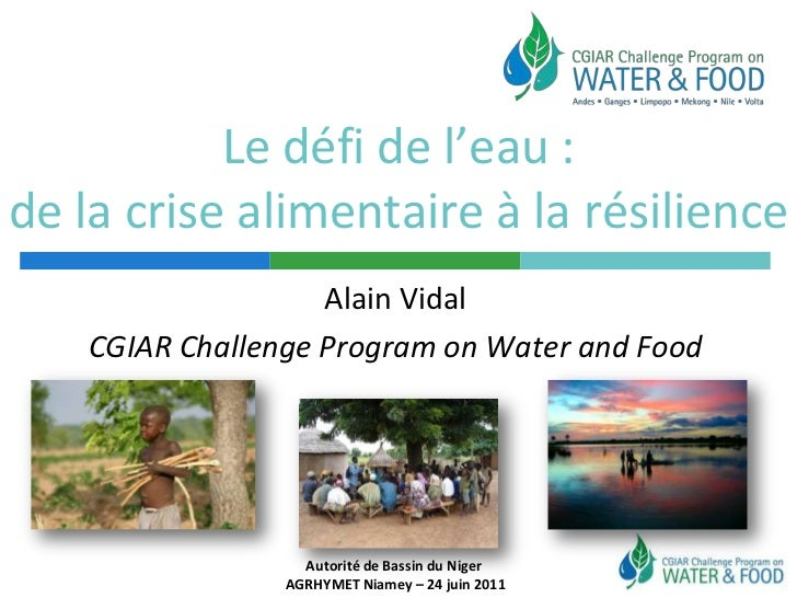 Le défi de l'eau : de la crise alimentaire à la résilience<br />Alain Vidal<br />CGIAR Challenge Program on Water and Food...
