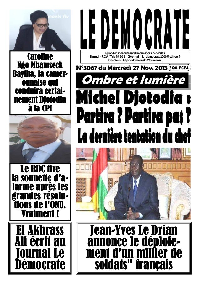 Caroline Ngo Mbamseck Bayiha, la camerounaise qui conduira certainement Djotodia à la CPI  Quotidien indépendant d'informa...