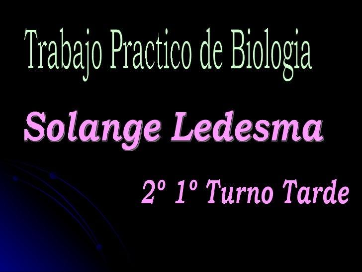 Trabajo Practico de Biologia Solange Ledesma  2º 1º Turno Tarde