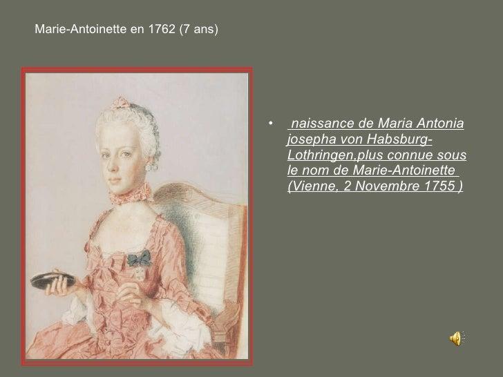 <ul><li>naissance de Maria Antonia josepha von Habsburg-Lothringen,plus connue sous le nom de Marie-Antoinette  (Vienne, 2...
