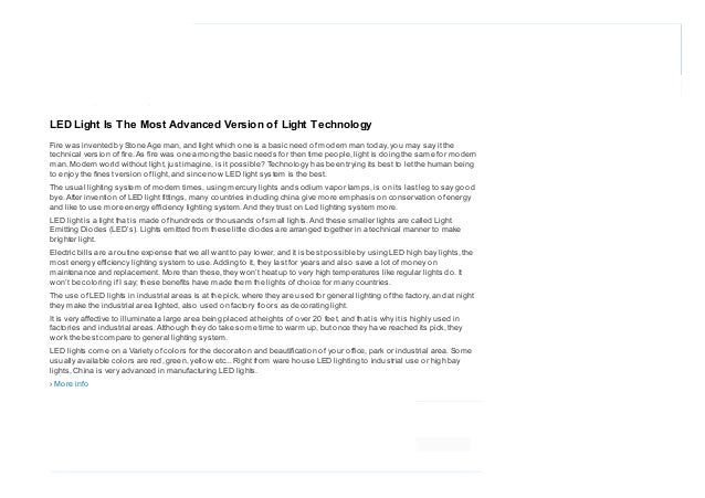 LED high bay light china manufacturer