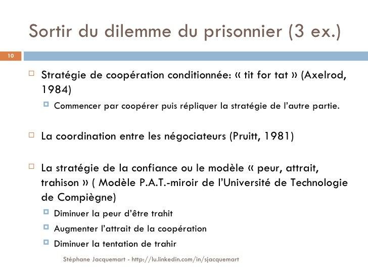Le dilemme de la n gociation for Prisonniers du miroir