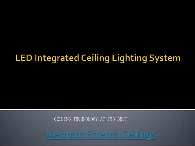 Led integrated ceiling lighting system
