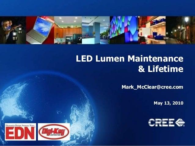 Led Lifetime -- EDN Digikey at LFI 2010