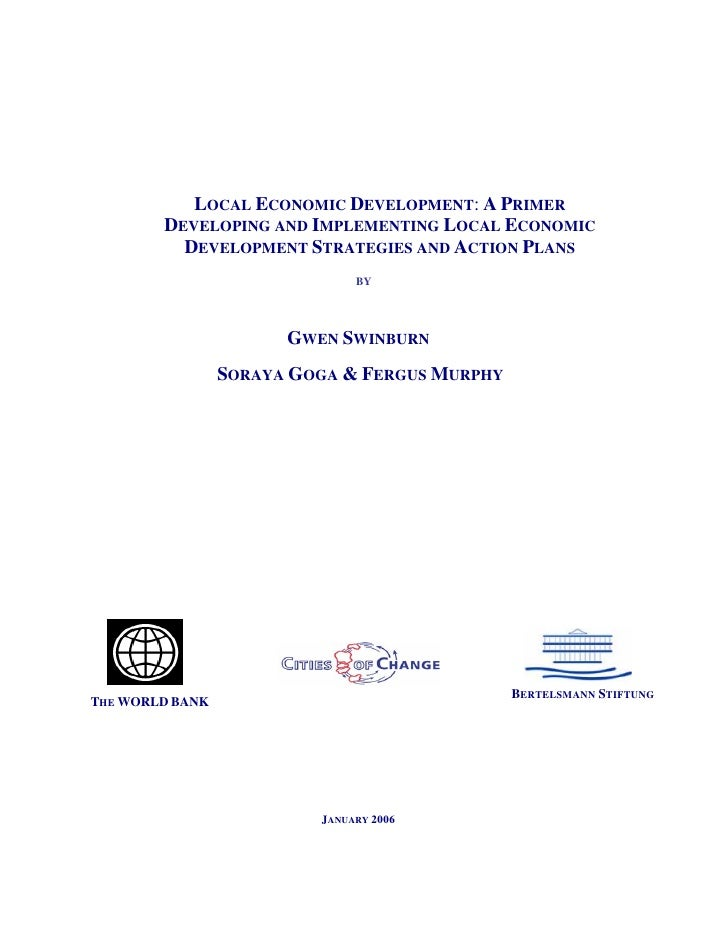 LED: A Primer Developing and Implementing Local Economic Development Strategies and Action Plans