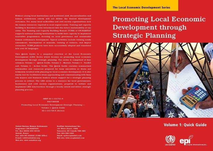 Promoting Local Economic Development through Strategic Planning