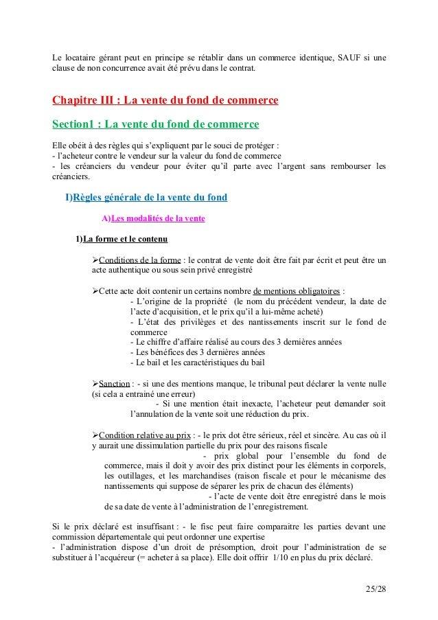 Cours le droit commercial marocain - Droit du locataire en cas de vente du logement ...