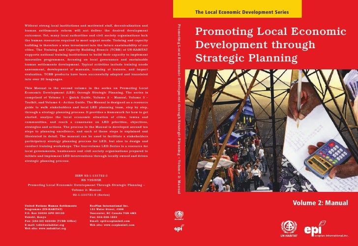 Promoting Local Economic Development through Strategic Planning