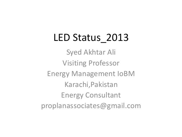 LED Status Pakistan