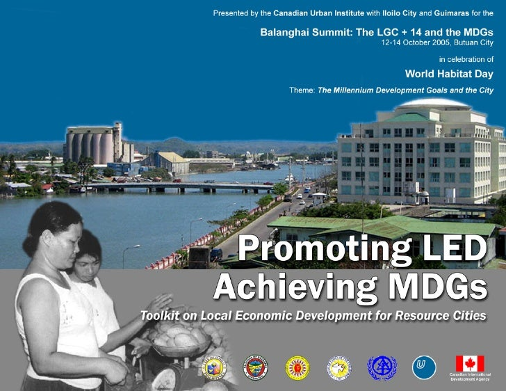 Promoting LED         Achieving MDGs                     Toolkit on Local Economic Development for Resource Cities        ...